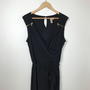 Black and Gold Sleeveless Pant Jumpsuit